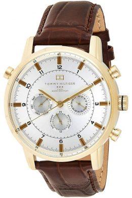 Ανδρικό Ρολόι Tommy Hilfiger Harrison Σε Χρυσό Με Καφέ Λουράκι