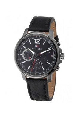 Ρολόι Tommy Hilfiger Landon Πολλαπλών Ενδείξεων Με Μαύρο Λουράκι