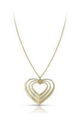 Χρυσό Κολιέ 9Κ Με Τριπλή Καρδιά
