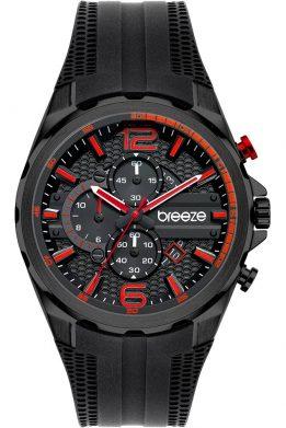 BREEZE Intrusio 112222.6 Chronograph Black Silicone Strap