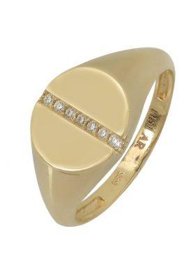 Χρυσό Δαχτυλίδι Με Σειρά Από Πέτρες Ζιργκόν O-D6158
